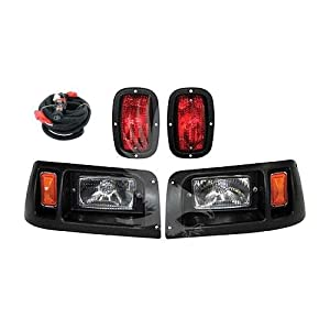 Club Car DS Golf Cart Headlight and LED Tail Light Kit - 1993 & Up by Parts Direct