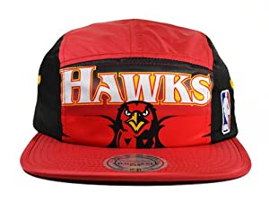 Atlanta Hawks HWC TEAM WORDMARK CAMPER Mitchell & Ness Clip Strapback Hat by Mitchell & Ness