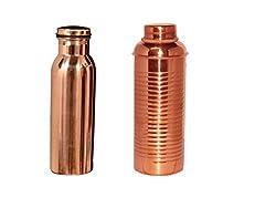 hammered Copper Bottle with liner bottle set capacity 750 ml