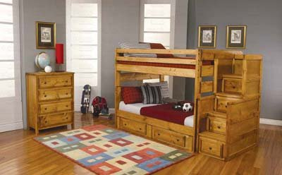Bunk Beds With Stairs 176995 front