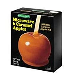 Concord Foods Microwave Caramel Apple Kits (VALUE Pack of 3 14oz Boxes for 18 Total Apples)