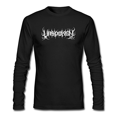 VEBLEN Men's Unspoken Band Long Sleeve Cotton T Shirt (Blades Of Chaos For Sale)