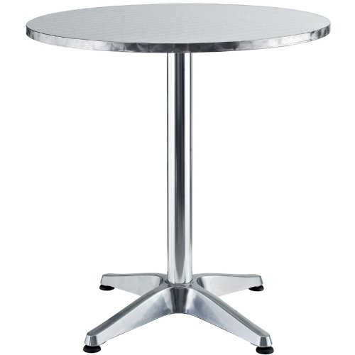 Lexmod Pool Modern Round Aluminum Indoor/Outdoor Table