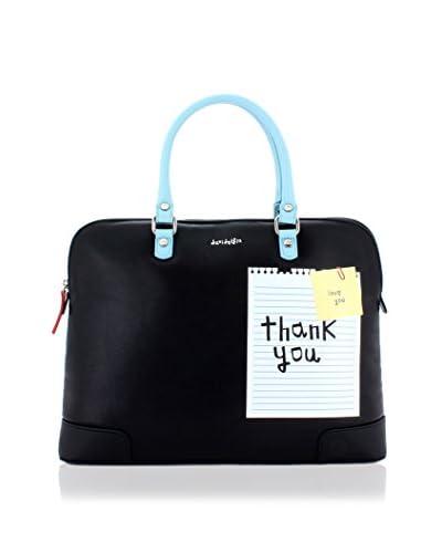 davidelfin Bolso asa de mano Note Briefcase Negro