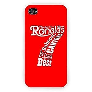 EYP Manchester United Ronaldo Back Cover Case for Apple iPhone 4