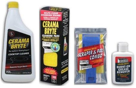 cerama-bryte-best-value-kit-ceramic-cooktop-cleaner-28oz-scraper-10-pads-burnt-on-grease-remover-2oz