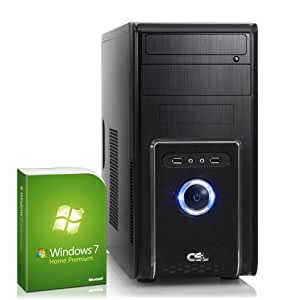 Silent multimedia PC! CSL Speed A25231uH (Core i5) incl. Windows 7 - computer-system with Intel Core i5 CPU 4x 3200 MHz, 1000GB SATA, 8GB DDR3 RAM, MSI Mainboard, Intel HD Graphics 4600 - the ultimate media system for pure entertainment