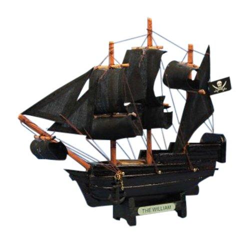 Hampton Nautical  Calico Jack's The William Pirate Ship, 7