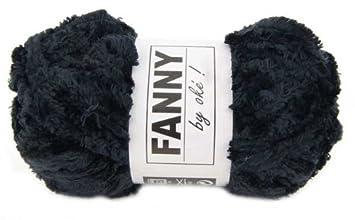 pelote de laine chenille chenille oke fanny noir cuisine maison m148. Black Bedroom Furniture Sets. Home Design Ideas