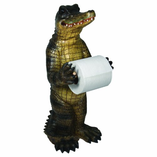 River 39 s edge alligator standing toilet paper holder green Animal toilet paper holder