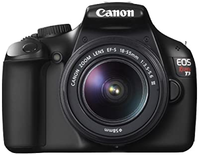 Canon EOS Rebel T3 Digital SLR Camera 12.2 MP with EF-S 18-55mm f/3.5-5.6 III Lens
