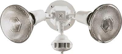 Brinkmann Home Security 110 degree Motion Detector Light, White