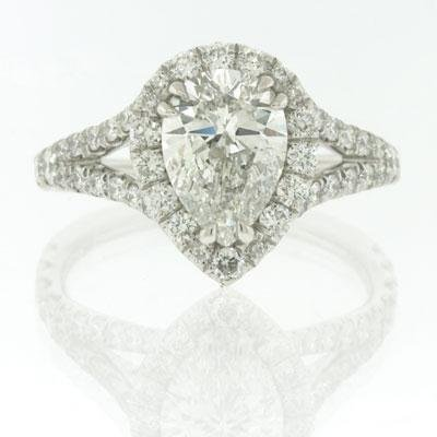2.57ct Pear Shape Diamond Engagement Anniversary 