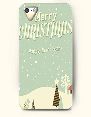 Oofit Phone Case Design With Merry Christmas And Happy New Year - Continuous Snow-Capped Mountains For Apple Iphone 5 5S 5G front-958345