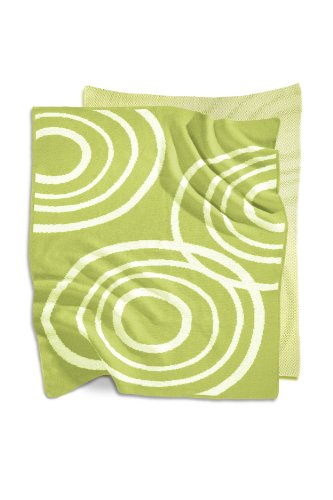 Organic Knit Blanket Color: Lawn Green