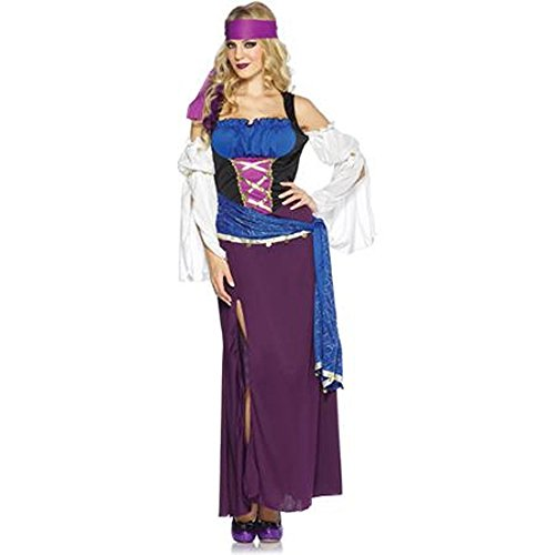 Renaissance Mystic Gypsy Woman Costume M 8-10 Medieval Wench Bar Maid