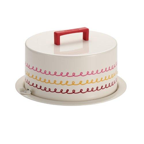 "Cake Boss Serveware Metal Cake Carrier, Cream, ""Icing"""