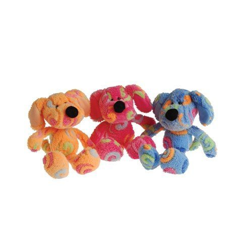 Set of 3 Adorable Plush Rainbow Swirl Puppy Dogs (Approx. 8 In.) / Party / Prize / Favor /Gift