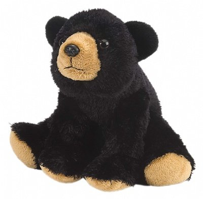Wild Republic Cuddlekins-Mini Black Bear 8 inch Plush - 1