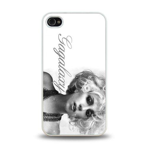 Pop Star Lady Gaga Cool Design #1 Matt Feel Hard Plastic Iphone 4 4S Case Protective Skin Cover (White)