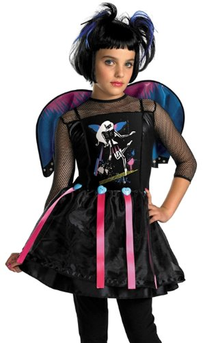 Disguise Kids Girls 80s Rockstar Dark Fairy Halloween Costume