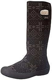 Bogs Women\'s Summit Sweater Waterproof Insulated Boot, Black