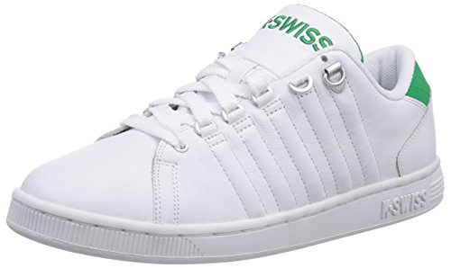 K-Swiss LOZAN III, Low-Top Sneaker uomo, Bianco (Weiß (WHITE/JOLLY GREEN 108)), 42