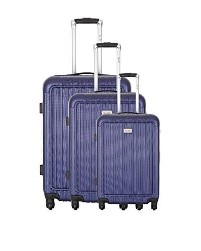 BRUCE FIELD Set de 3 trolleys rígidos Honore Azul