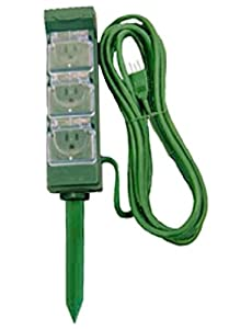 Six Outlet Outdoor Digital Electronic Timers With Stake [28074]