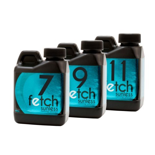 Fetch Sunless Tanning Dha Solution Indoor Spray Tan Sample 3 Pack 4 Oz Bottles front-975687