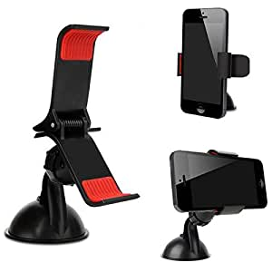 Case Supportive Clip On Grip 360° Windshield Windscreen Mini Car Mount Adjustable Rotatable Claw Holder Stand Cradle For SONY XPERIA L C2104/C2105 Mobile Cellular Cell Phone