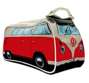 Volkswagen Merchandise - VW T1 Bully / Van / Camper / Splitty - Washbag / Toiletry Bag (Red)