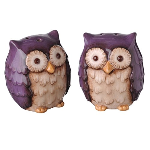 Crimson Hollow Owl Salt & Pepper Shakers Other Colors Available