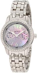 Citizen FD1030-56Y - Reloj para mujer, correa de acero inoxidable color plateado