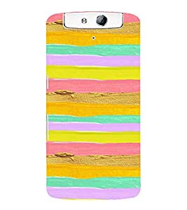 MULTICOLOURED ARTISTIC OVERLAPPING WAVES PATTERN 3D Hard Polycarbonate Designer Back Case Cover for Oppo N1
