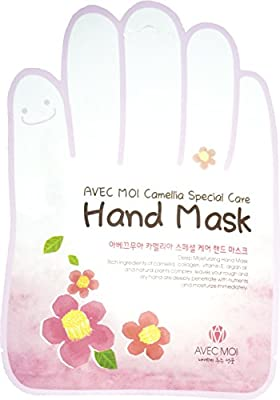 Avec Moi Camellia Special Care Hand Mask/ Giving Tired, Dry Hands Good Relaxation