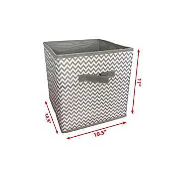 Sodynee Foldable Cloth Storage Cube Basket Bins Organizer Containers Drawers, 6 Pack