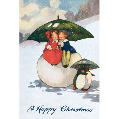 Two's Company Pack of 10 Christmas Cards (Rectangle)||RF10F