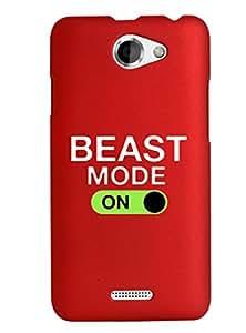 KolorEdge Back Cover For HTC Desire 516 - Red (2868-Ke15158HTC516Red3D)