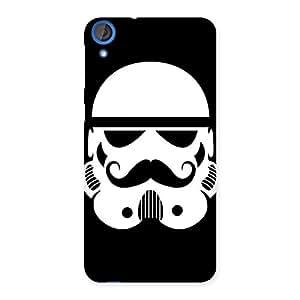 Premium Mustach Black Back Case Cover for HTC Desire 820