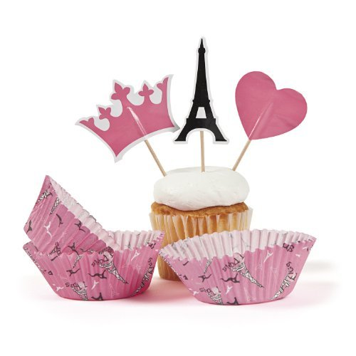 Perfectly Paris Baking Cups With Picks (100 pc)