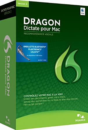 Dragon Dictate 3 wireless  (avec oreilette sans fil bluetooth)