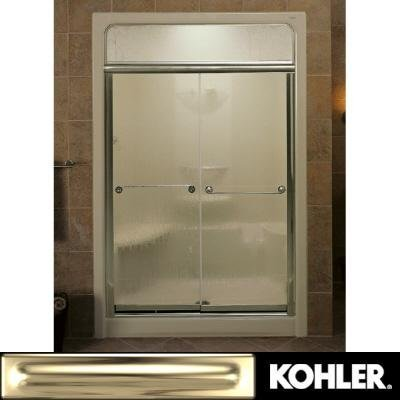 KOHLER K-704310-L-MX Senza Steam Bypass Shower Door, Matte Nickel