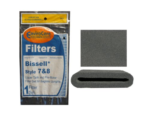 (2 Sets) Bissell Vacuum Style 7/8/14 Foam Filter Kit 3093 Cleanview Type Part # 203 1073, 3290, 203 1085, 203 1192