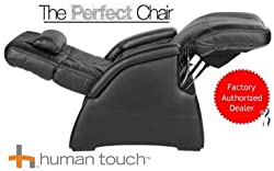 The Human Touch Power Electric Perfect Chair Recliner - PC85 / PC-085 Motor Recline Black Leather Pads - Interactive Health Zero Anti Gravity Chair
