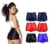 New High Waisted Disco Shorts Shiny Stretch Hot Pants