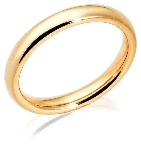 14k Yellow Gold 3mm Comfort Fit Women's Wedding Band