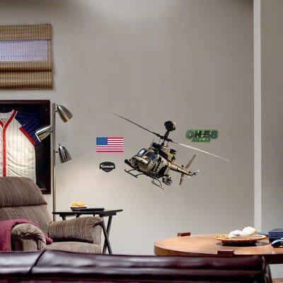 OH-58 Kiowa Warrior Wall Decal Fathead Wall Stickers & Murals autotags B0018C9X1Q