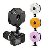 CN-126B LED video, microfono della telecamera lampada porta con filtro 3200K / 5400K per la videocamera / videocamera