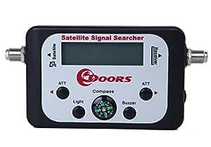 ドアーズ(DOORS) 衛星放送用 BS/CS アンテナ レベルチェッカー サテライトシグナルサーチャー SSS-HD101 暗所で便利なLEDバックライト搭載 向き 角度調整 アンテナチューナー (ブラック)